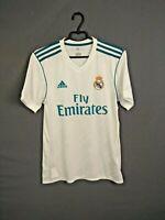 Real Madrid Jersey 2017 2018 Home S Shirt Mens Camiseta White Adidas AZ8059 ig93