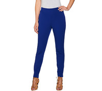 Attitudes By Renee Stretch Supreme Knit Pull On Ankle Pants Size 14 Sapphire