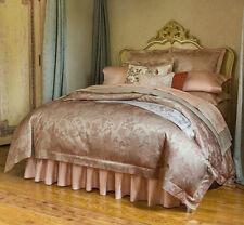 Sferra BELLANCA Queen Duvet Cover 4 Piece Set Egyptian Cotton Sateen Nougat New