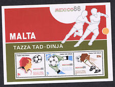 Malta Stamps 1986- Football World Cup - MEXICO - 33c Miniature Sheet MS784