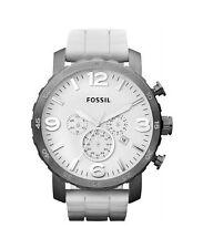 Sportliche runde Fossil Armbanduhren aus Silikon/Gummi