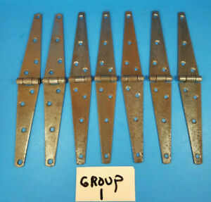 """Vintage Barn Strap Iron Hinge Door Gate 10""""×1 7/16"""" New Old Stock 13 Available"""