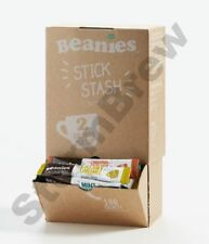 100 BEANIES MIXED BLENDS; INSTANT FLAVOURED COFFEE STICKS SACHETS DISPENSING BOX