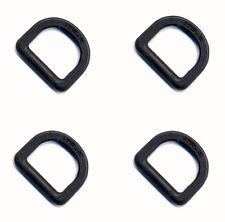 4 x ITW Nexus Black 25mm Plastic D Rings ( DIY Tactical - NSN 5365-33-206-2182