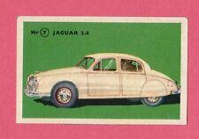 Jaguar 2.4  Vintage 1950s Car Collector Card from Sweden
