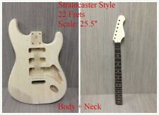 200DIY Wooden Body + Neck, ST Style Electric Guitar,22 Frets,Rosewood Fretboard