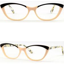 Full Rim Women's Cat Eye Frames Stylish Prescription Glasses RX Sunglasses Brown