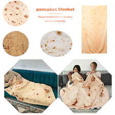 Snack Tortilla Pattern Blanket Square/Round Burrito Shaped for Car Office Quilts