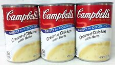 Campbell's Cream of Chicken with Herbs Condensed Soup 10.5 oz 3 Cans Campbells
