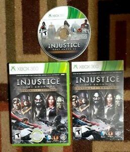 Injustice Gods Among Us Ultimate Edition Complete (XBOX 360) VG Shape & Tested