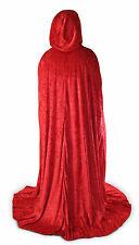 Red Velvet Cloak Cape Wedding Wicca Medieval LARP SCA