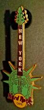 HARD ROCK CAFE NEW YORK STATUE OF LIBERTY HEAD VIRIDIAN GREEN GUITAR 1st VERSION