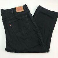 Levi's 505 Denim Jeans Mens 48X32 Black Straight Fit Regular 100% Cotton Washed