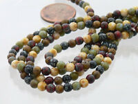 Picasso Mix Opaque, Czech Round Beads 4mm 50 Beads Per Strand New Arrivals