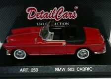 DETAIL CARS DETAILCARS 1:43 AUTO DIE CAST BMW 503 CABRIO 1959 ROSSA   ART 253
