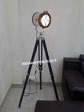 New listing Tripod. Spotlight Floor Lamp Vintage Retro Light Industrial Wooden Lighting New