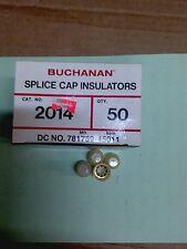 NIB Buchanan #2014 Splice Cap Insulators Box of 50 - USED WITH #2011S SPLICE CAP