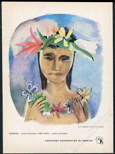 1950 Hawaii theme Geraldine P Clark art CCA vintage print ad