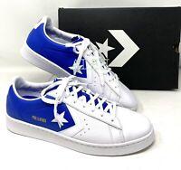 Converse PRO LEATHER White Blue Men's Sizes Sneakers 167590C