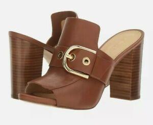NIB Size 6  MICHAEL Michael Kors Cooper Mule Leather Luggage Tan WB