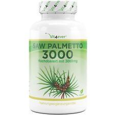 Saw Palmetto 3000mg - 300 Kapseln - Prostata Haare Haarausfall - Vegan - Premium