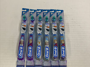 6 pack Oral-B Jr. Kids SOFT Toothbrush Disney's FROZEN