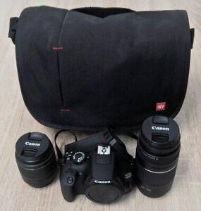 """Pfandhaus Wagner:dig. Spiegelreflexkamera """"Canon EOS 1300D"""" Obj. 18-55 + 75-300"""