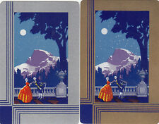 #160 2 (pair)  single vintage single playing swap cards - Couple Courting  - JS