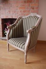 Italian / French Louis high back winged arm chair accent hall, bedroom chair
