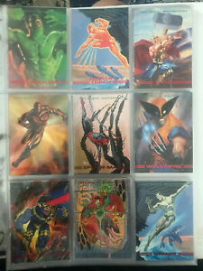 1993 Marvel Masterpieces  #1-90 Complete Card Set NM Near Mint