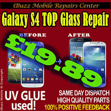 Samsung S4 i9505 i9500 CRACKED FRONT TOP GLASS SCREEN REPLACEMENT REPAIR SERVICE