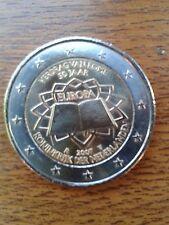 """pièce neuve 2 euros 2007 """"traité de rome"""" pays-bas"""