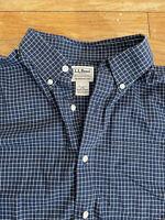 Ll Bean Button Down Checkered Long Sleeve Shirt Mens Large Regular