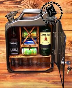 mini bar jerry can camping picnic canister NEW man cave handmade metal gift