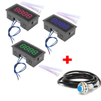 4-Digit LED Digital Counter Meter+Hall Sensor NPN Relay Output Switch 320 KHZ DH