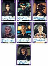 Babylon 5 Season Five SkyBox 1998 A01 - A22 Autograph Card Selection