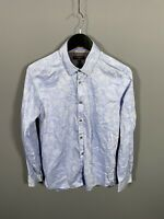 TED BAKER Shirt - Size 3 Medium - Blue - Floral - Great Condition - Men's