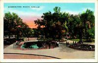 Vtg Linen Postcard Wichita Kansas KS Riverside Park View Unused