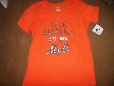 New York Mets Majestic Women's Size XXL Short Sleeve Shirt New With Tags Orange