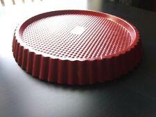 Kaiser 11� Red Tart Tin Germany Fluted Edges Pie Flan Baking Reese Cup Cake Pan