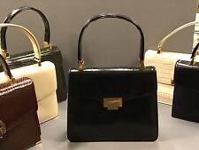 Vintage 60s KORET Black Leather Handbag/Purse Gold Original Tag Saks 5th Ave