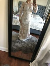 New Forever Unique Asos Dress Wedding Party Maxi Beaded Dress Size 4
