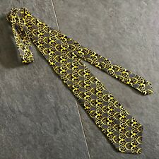 V2 by VERSACE black & gold silk tie Barocco print from 1996 print worn by Tupac