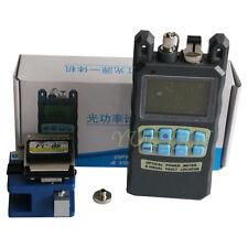 Fiber Optic Tool Kit All Optical Power Meter Visual Fault Locator FC-6S Cleaver