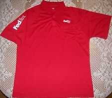 FedEx Freight Employee Uniform Red Polo Shirt Short Sleeve Polyester Men's Large