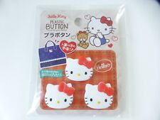Brand New!! Sanrio HELLO KITTY PLASTIC BUTTON 3pcs FREE SHIPPING