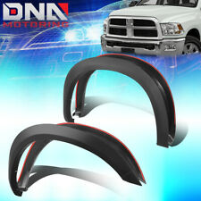 FOR 2010-2018 DODGE RAM 2500/3500 4PCS FACTORY STYLE MATTE WHEEL FENDER FLARES