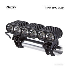 Gemini Lights TITAN 2500 Lumen Enduro Downhill MTB OLED Bike Headlight : TITAN2