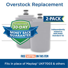 Fits Maytag UKF7003 EDR7D1 Comparable Refrigerator Water Filter 2 Pack