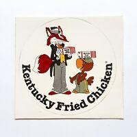 Vintage KFC Kentucky Fried Chicken Sticker 1980s NOS